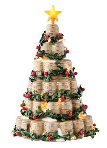 "Department 56 Jack Daniels Village - ""Jack Daniel's Barrel Tree"""