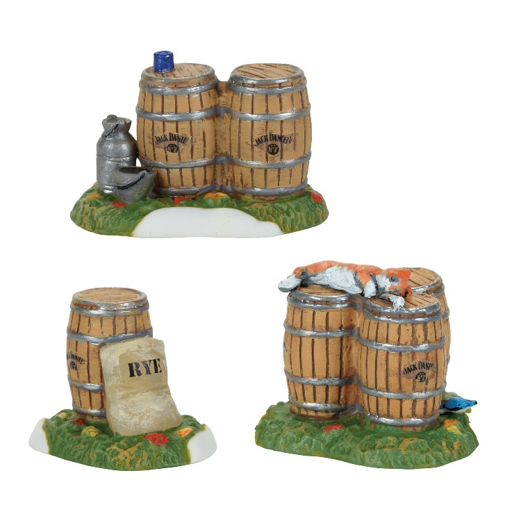 "Department 56 Jack Daniels Village - ""Jack Daniel's Barrels & Rye"""