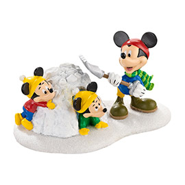"""Department 56 - Mickey's Christmas Village - """"Snow Fort Fun!"""""""