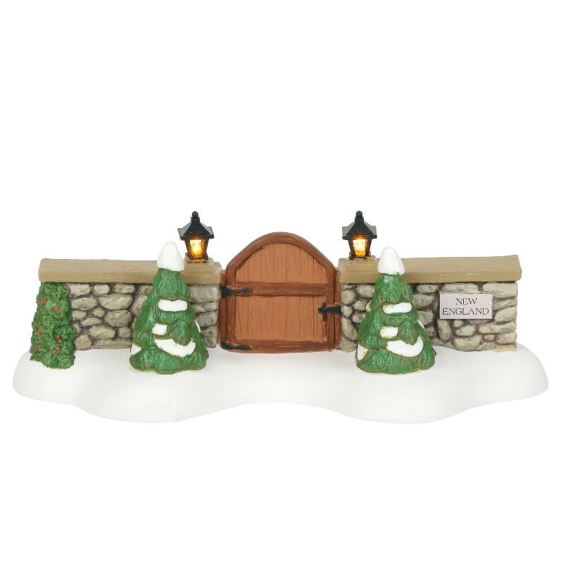 "Department 56 New England Village Accessory - ""New England Village Gate"" 2018"