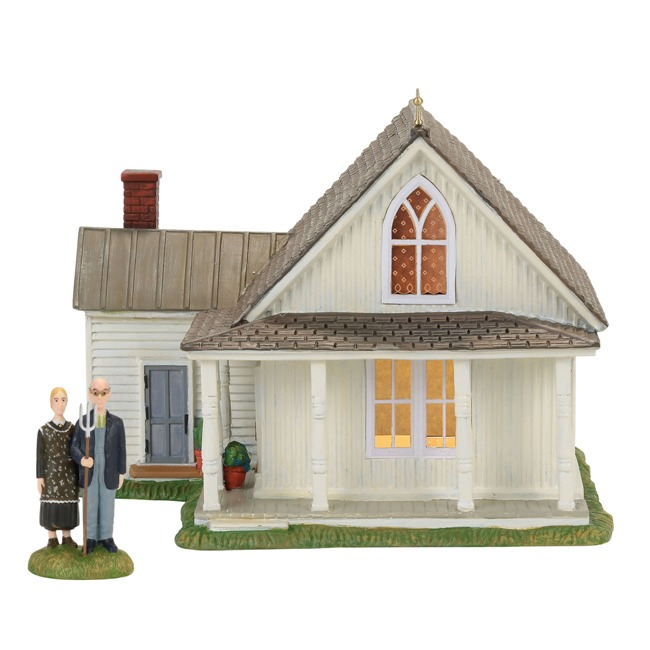 Department 56 New England Village - American Gothic, Set of 2
