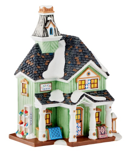 """Department 56 New England Village - """"Calico Quilts"""""""