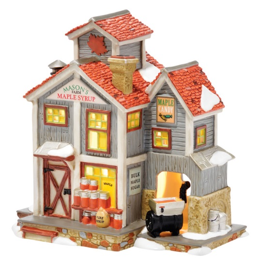 """Department 56 New England Village - """"Mason's Maple Syrup"""""""