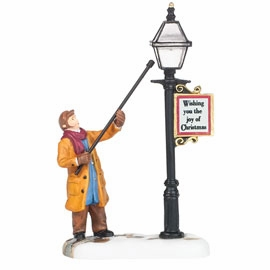 "Department 56 New England Village - ""New England Lamplighter"""