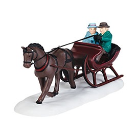 """Department 56 New England Village Accessory - """"New England Sleigh Ride"""""""