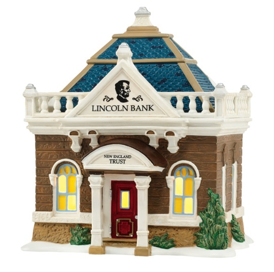 "Department 56 New England Village - ""The Lincoln Bank"""