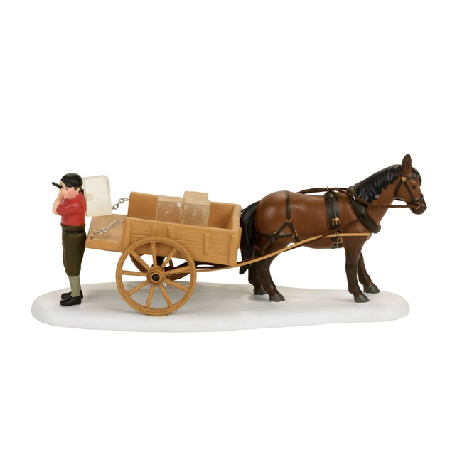"Department 56 New England Village - ""Wenham Lake Ice Delivery"""