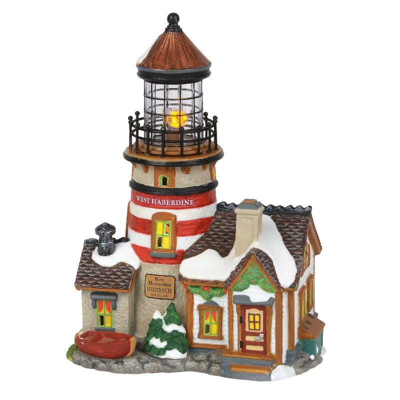 "Department 56 New England Village- ""West Haberdine Lighthouse"" 2018"