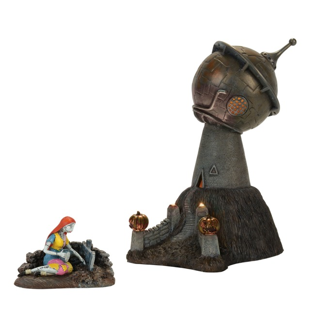 "Department 56 Nightmare Before Christmas Village - ""Dr. Finkelstein's Observatory"" - Set of 2"