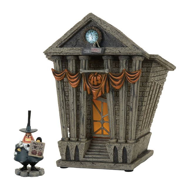Department 56 Nightmare Before Christmas Village - Halloween Town City Hall - Set of 2