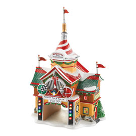 "Department 56 North Pole Series - ""Cars North Pole Rally Center"" - Retired 2012"
