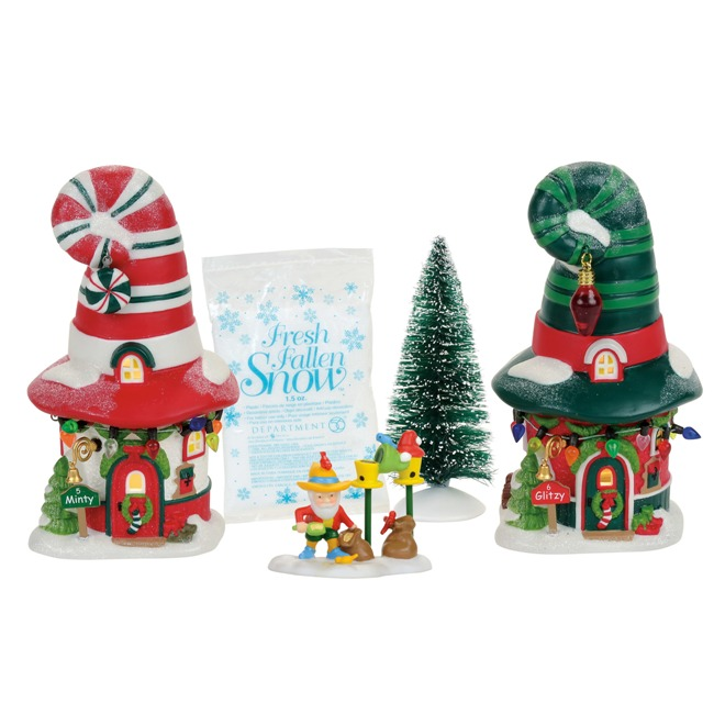 "Department 56 North Pole Village - ""Merry Lane Cottages Box Set"""