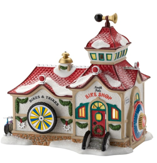 "Department 56 North Pole Series  - ""North Pole Bike Shop"""