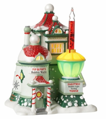 """Department 56 North Pole Series - """"Pip & Pop's Bubble Works"""""""