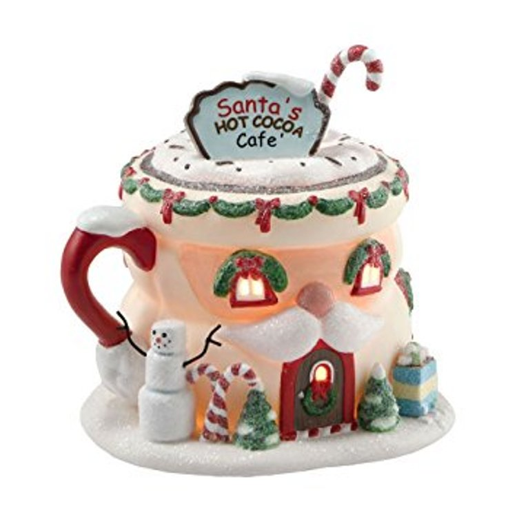 "Department 56 North Pole Village - ""Santa's Hot Cocoa Caf�"""