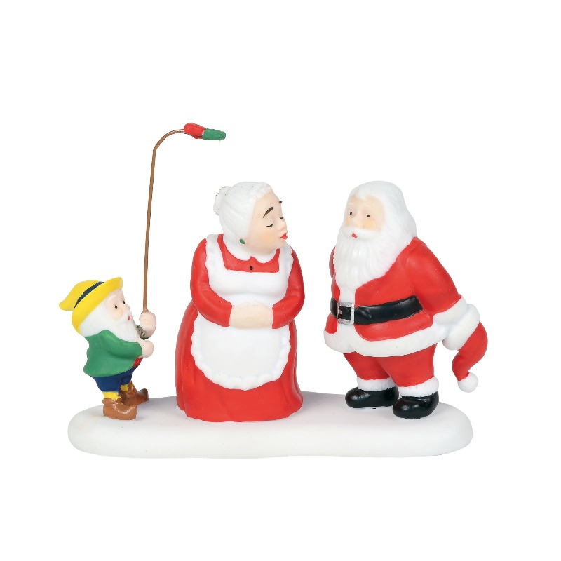 "Department 56 North Pole Village Accessory - ""A Christmas Kiss"" 2018"