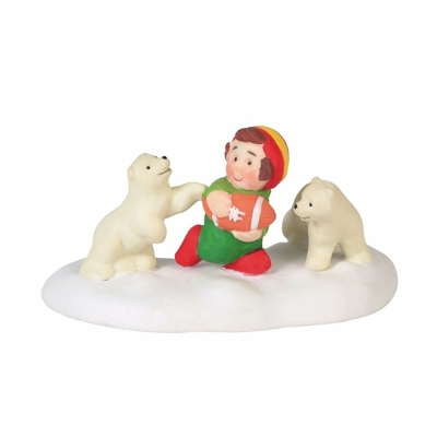 """Department 56 North Pole Village Accessory - """"Bear Down And Go"""" 2018"""