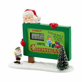 """Department 56 North Pole Village Accessory - """"Countdown To Christmas"""""""