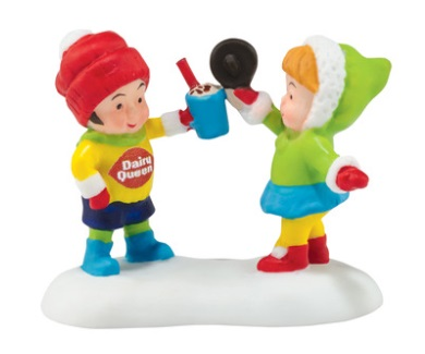 """Department 56 North Pole Village Accessory - """"DQ Yummy Treats To Eat"""""""