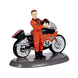 "Department 56 Snow Village Accessory - ""Harley-Davidson� Race Ready"""
