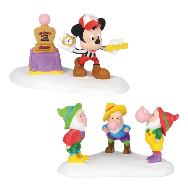 "Department 56 North Pole Village Accessory - ""Mickey's Big Bubble Contest"" 2018"