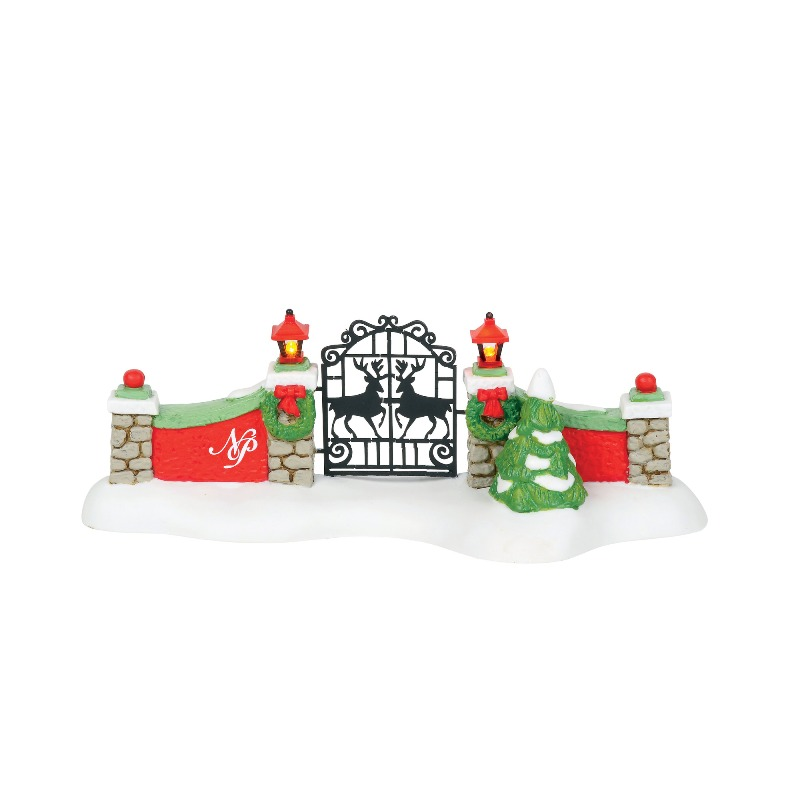 "Department 56 North Pole Village Accessory - ""North Pole Gate"" 2018"