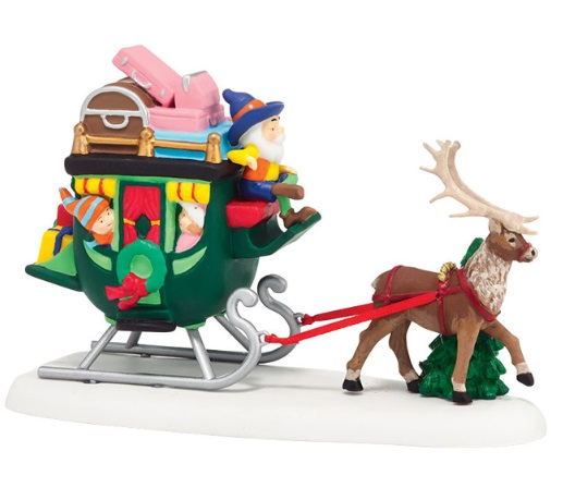 "Department 56 North Pole Village Accessory - ""North Pole Sleigh Ride"""