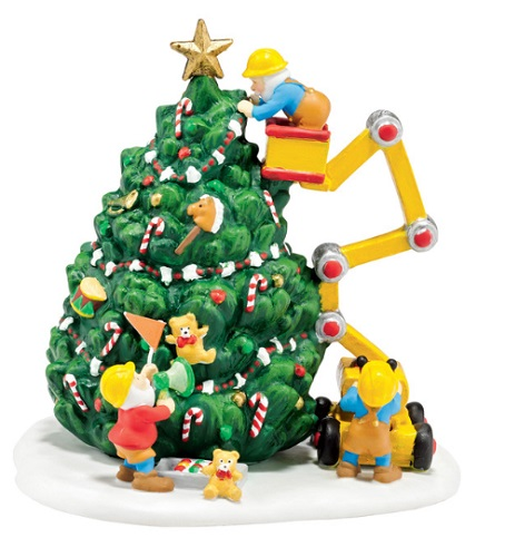 "Department 56 North Pole Village Accessory - ""North Pole Town Tree"""