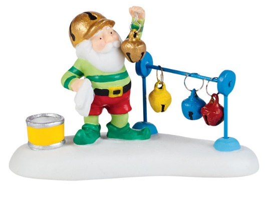 """Department 56 North Pole Village Accessory - """"Ring-A-Ling Bling"""""""