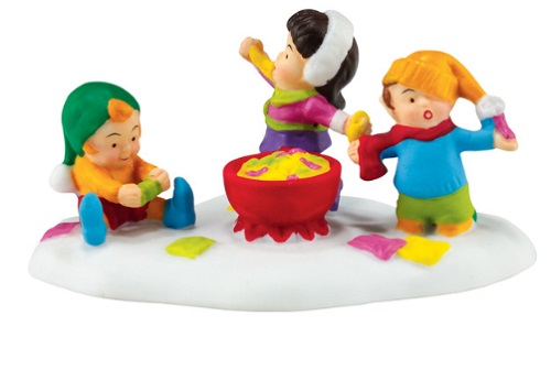 """Department 56 North Pole Village Accessory - """"Taffy Party!"""""""