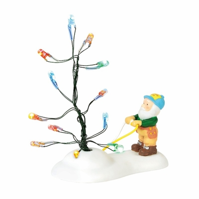 """Department 56 North Pole Village Accessory - """"Testing The Twinkle"""" 2018"""