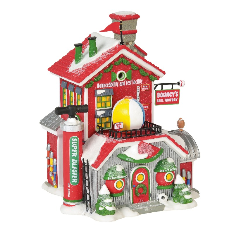 Department 56 North Pole Village - Bouncy�s Ball Factory 2018