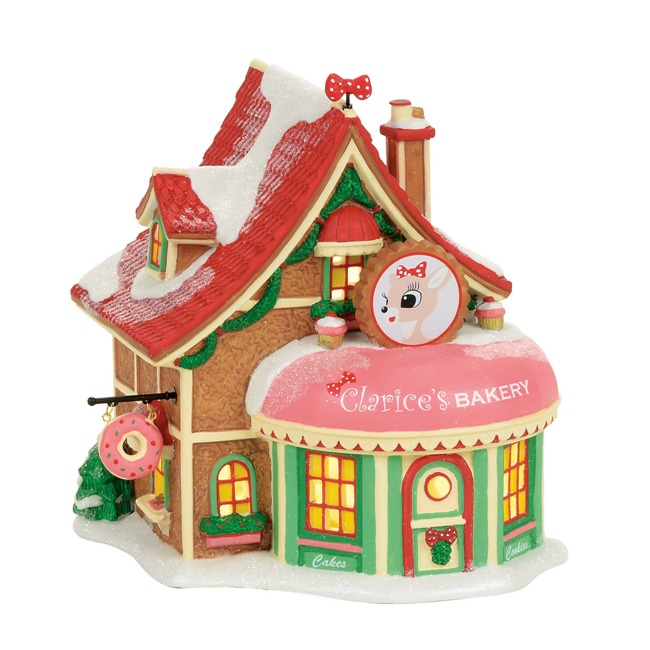 """Department 56 North Pole Village - """"Clarice's North Pole Bakery"""""""
