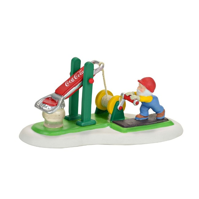 "Department 56 North Pole Village - ""Coca Cola Bottle Cap Tester"""