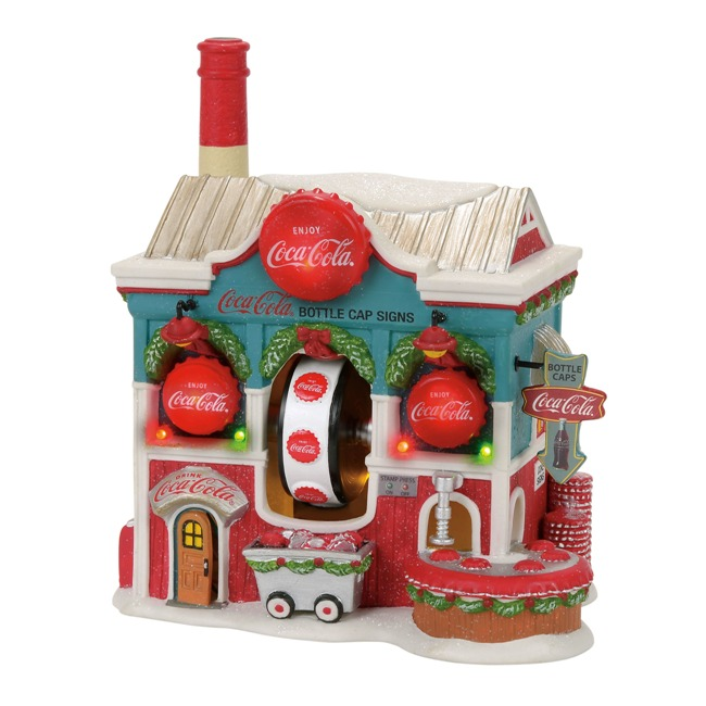 "Department 56 North Pole Village - ""Coca Cola Bottle Caps"""