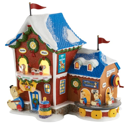 """Department 56 North Pole Village - """"Fisher Price Pull Toy Factory"""""""