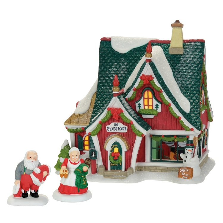 "Department 56 North Pole Village - ""Home For Holidays"" - Set of 3"