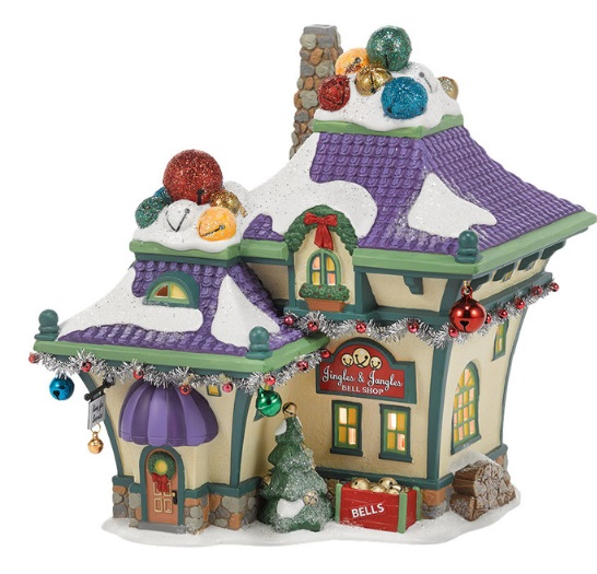 "Department 56 North Pole Village - ""Jingle & Jangle's Bells"""