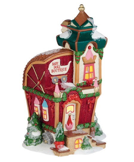 "Department 56 North Pole Village - ""North Pole Baby Doll Boutique"""