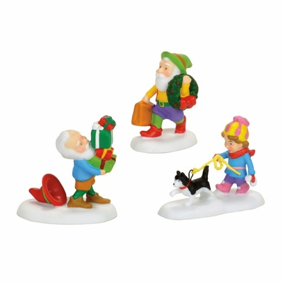 """Department 56 North Pole Village - """"North Pole Holiday Elves"""""""