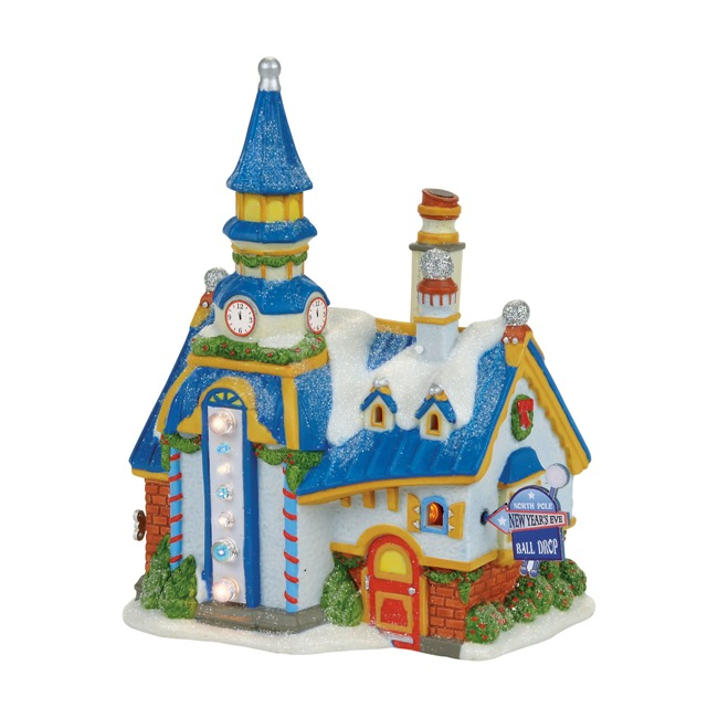 "Department 56 North Pole Village - ""North Pole New Year's Eve Center"""