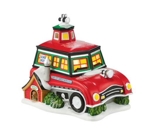 """Department 56 North Pole Village - """"North Pole Snow Inspector Station"""""""