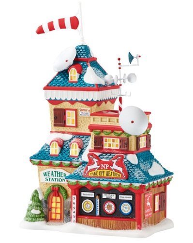 """Department 56 North Pole Village - """"North Pole Weather Station"""""""