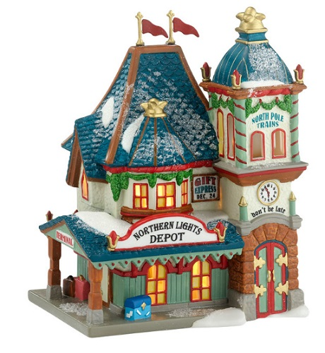 "Department 56 North Pole Village - ""Northern Lights Depot"""