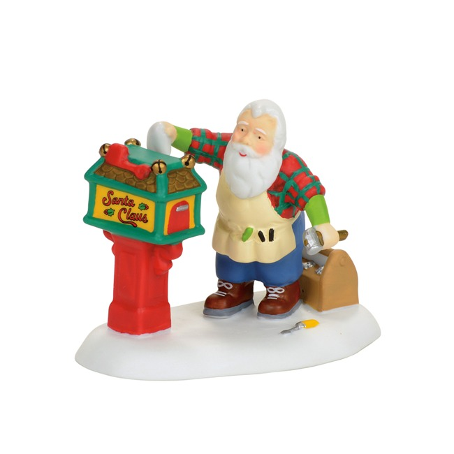"Department 56 North Pole Village - ""Off-Season Santa"""