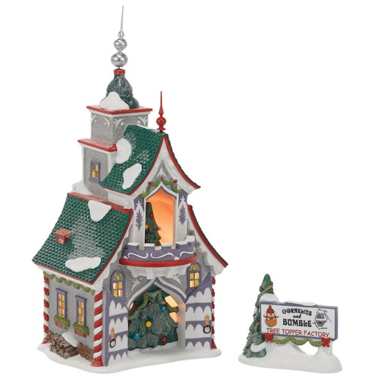 """Department 56 North Pole Village - """"Rudolph's S & G Tree Toppers"""""""