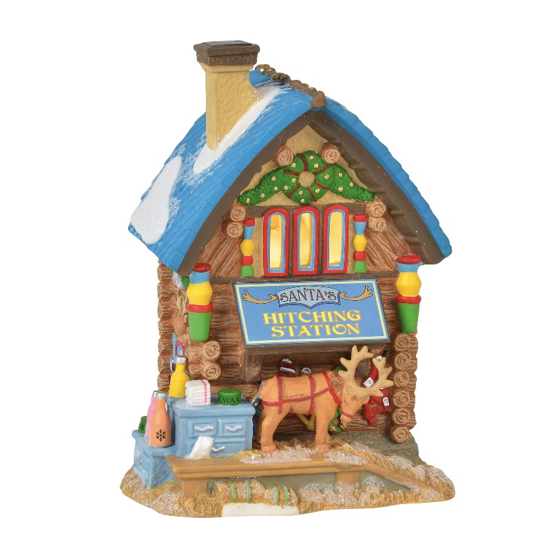 "Department 56 North Pole Village - ""Santa's Hitching Station"" 2018"