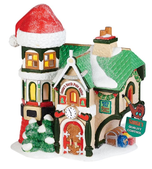 "Department 56 North Pole Village - ""Santa 's North Pole Office"""