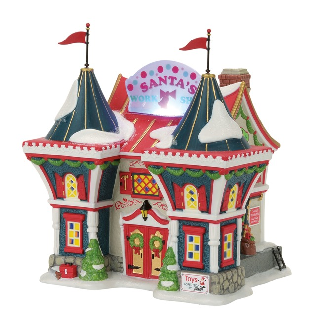 "Department 56 North Pole Village - ""Santa's North Pole Workshop"""