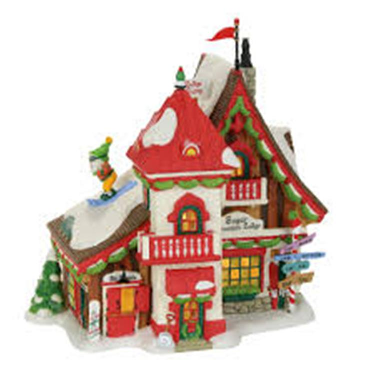 "Department 56 North Pole Village - ""Sugar Mountain Lodge"""